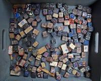 letterpress επιστολές Στοκ εικόνες με δικαίωμα ελεύθερης χρήσης