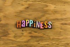 Letterpress ευτυχίας σημάδι ελεύθερη απεικόνιση δικαιώματος