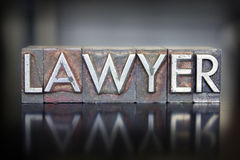 Letterpress δικηγόρων Στοκ εικόνα με δικαίωμα ελεύθερης χρήσης