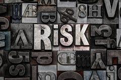 Letterpress κίνδυνος Στοκ Εικόνες