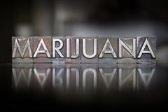 Letterpress μαριχουάνα Στοκ Εικόνες