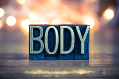 Letterpress μετάλλων έννοιας σώματος τύπος Στοκ Φωτογραφία