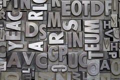 Letterpress μετάλλων τύπος Στοκ εικόνα με δικαίωμα ελεύθερης χρήσης