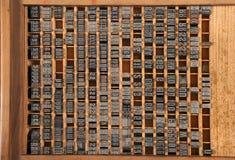 Letterpress μιας παλαιάς τυπογραφίας στοκ εικόνες