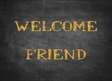 Ευπρόσδεκτο letterpress χαιρετισμού εγχώριων φίλων οικογενειακό κείμενο στοκ φωτογραφία με δικαίωμα ελεύθερης χρήσης