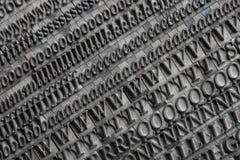 letterpress ομάδων δεδομένων Στοκ Φωτογραφίες