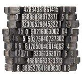 letterpress τυχαίος τύπος αριθμών Στοκ φωτογραφία με δικαίωμα ελεύθερης χρήσης