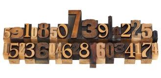 letterpress τυχαίος τύπος αριθμών Στοκ Εικόνες