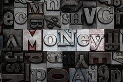 Letterpress χρήματα Στοκ φωτογραφία με δικαίωμα ελεύθερης χρήσης
