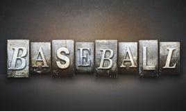 Letterpress бейсбола Стоковое Изображение