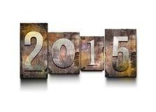 Letterpress 2015 года Стоковая Фотография RF