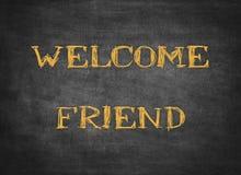 Добро пожаловать домашний текст letterpress семьи приветствию друга стоковое фото rf