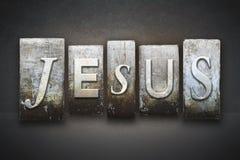 Letterpress Иисуса стоковая фотография