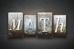 Letterpress математики Стоковые Изображения