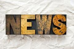 Letterpress новостей Стоковые Изображения