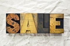 Letterpress продажи Стоковая Фотография RF