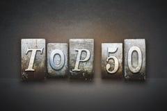 Letterpress 50 лучших Стоковое Изображение RF