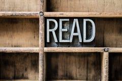 Прочитайте Letterpress напечатайте внутри ящик Стоковые Изображения RF