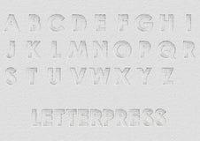Letterpress Royalty Free Stock Photo