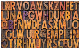 Letterpress alphabet abstract background Royalty Free Stock Photography