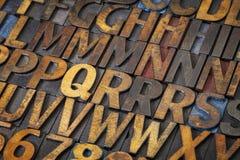 Letterpress alphabet abstract Royalty Free Stock Photos