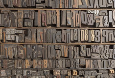 Letterpress alphabet Stock Photography