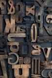 Letterpress alphabet Royalty Free Stock Photography