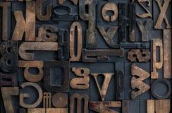 Letterpress alphabet Stock Image