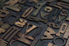 Letterpress alphabet Royalty Free Stock Photo