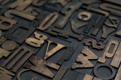 Letterpress alphabet Royalty Free Stock Photo