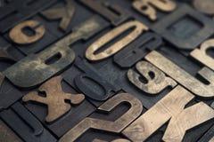 Letterpress alphabet Stock Photos