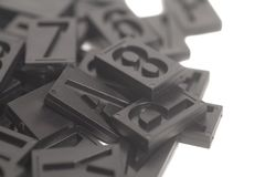 Letterpress alphabet and number background Royalty Free Stock Image