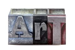 Letterpress Art Royalty Free Stock Photography