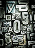 Letterpress background Royalty Free Stock Images