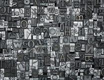 Letterpress background Stock Image