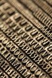 Letterpress blocks Stock Photos