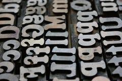 Letterpress blocks Stock Image
