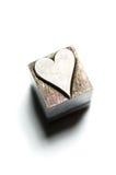 Letterpress Hearts Stock Photos