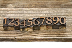 Letterpress number abstract Royalty Free Stock Images