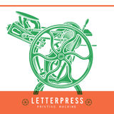 Letterpress overprint vector design. Vintage Stock Photography