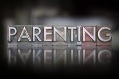 Letterpress Parenting Στοκ φωτογραφία με δικαίωμα ελεύθερης χρήσης
