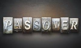 Letterpress Passover Στοκ Εικόνα