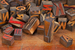 Letterpress printing blocks with exclamation point Royalty Free Stock Image
