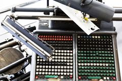 Letterpress printing machines Royalty Free Stock Images