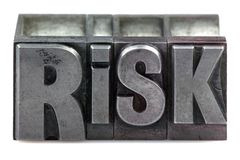 Letterpress Risk Stock Images