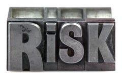 letterpress ryzyko Obrazy Stock