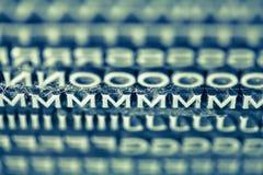 Letterpress Type Background Royalty Free Stock Photo