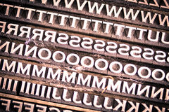 Letterpress Type Background Royalty Free Stock Images
