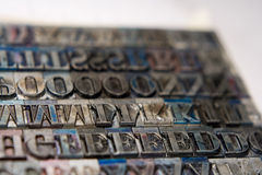 Letterpress Type Blocks Royalty Free Stock Images