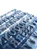 letterpress typu Obraz Royalty Free